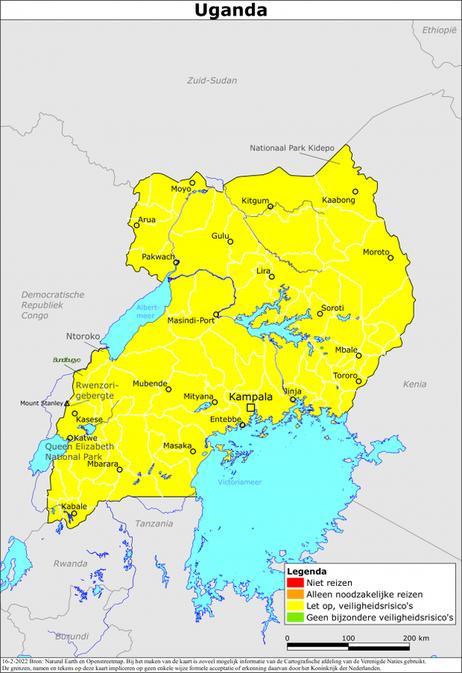 Reisadvies uganda, geüpdate met coronamaatregelen in uganda